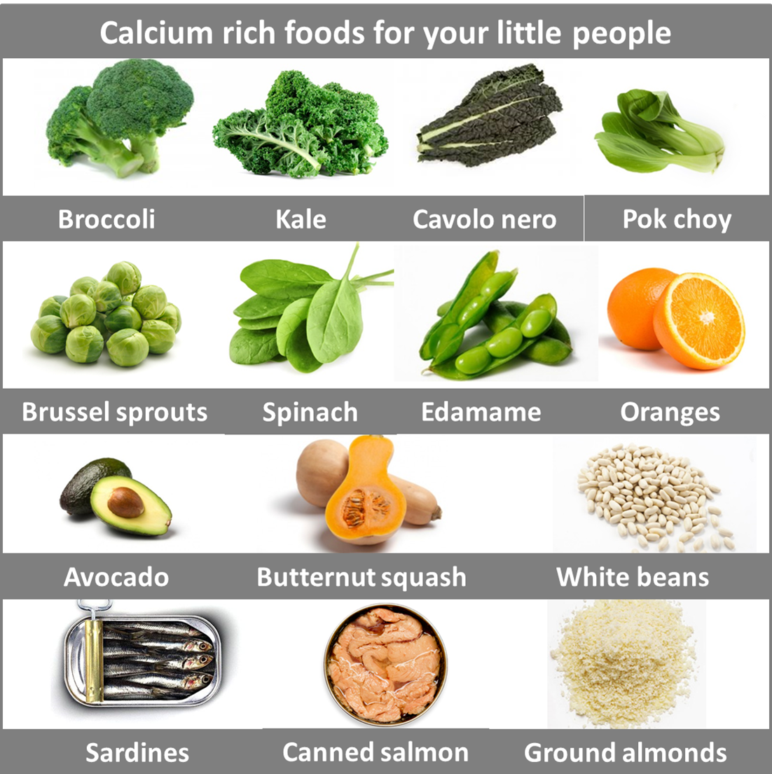 Vegetables Contain Calcium Calcium comes from more than just milk sprouting yumminess calcium rich foods2 workwithnaturefo